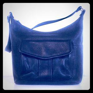 Black Leather Fossil Shoulder Bag